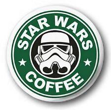 STAR WARS COFFEE - 1 inch / 25mm Button Badge - Starbucks Spoof Logo Cute