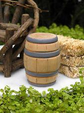 Miniature Dollhouse FAIRY GARDEN Farm Accessories ~ Large Wooden Wood Barrel NEW