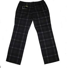 NIKE Tour Performance Grey Black Plaid Dri-Fit Lightweigt Golf Pants Wms 14 $95