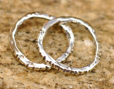ONE Artisan Rustic Sterling Silver Notched Link 101s