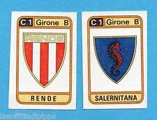 PANINI CALCIATORI 1983/84 -Figurina n.518- RENDE+SALERNITANA - SCUDETTO -Rec