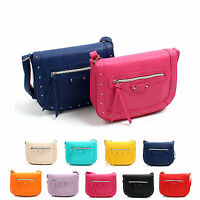 New Fashion Ladies Messenger Handbag Women Studded Stud Shoulder Cross Body Bag