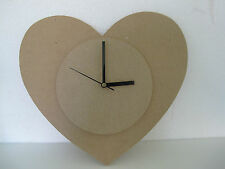 CLOCK MDF Heart Shape Large