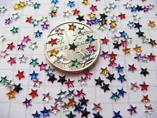 50+ Cute Mini 3D STARS Nail Art Rhinestones !! 12 COLOURS FREE POST!! 3mm