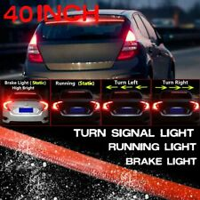 40'' Roofline LED Third Brake Light Strip Above Rear Inner Windshield Red Bar