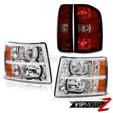 07-13 Chevy Silverado 2500Hd Crystal Clear Headlights Taillamps Factory Style