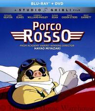 Studio Ghibli Movie Porco Rosso Blu-ray DVD English French Japanese