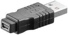 Adaptador USB 2.0 de alta velocidad USB 2.0 Enchufe Tipo A a USB 2.0 Mini Jack Tipo B 5-pin