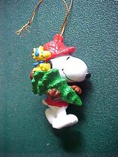 Peanuts Snoopy & Woodstock with Tree Christmas Ornament
