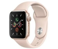 Series 5 Apple Watch Gold watch with pink sand sport band 40mm. Read descirption