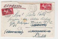 STORIA POSTALE 1951 REPUBBLICA 2 VALORI DA L.60 DOPPIA AFFRANCATURA Z/5307