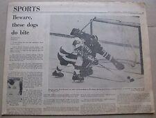 Haarvard-BU Beanpot Hockey - February 11, 1975 Boston Globe Sports Section