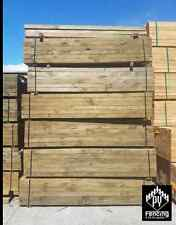Treated Pine Sleepers ECOWOOD non arsenic 200 x75x2.7m H4 H C Gal Steel Channels