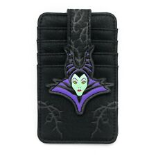 "Loungefly Disney Maleficent Faux Leather Cardholder & ID Wallet/Case 5"" x 3"""