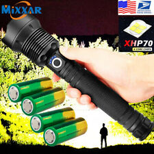 Led Flashlight xhp70.2 350000 lumens Most Powerful USB Rechargeable 26650 Torch