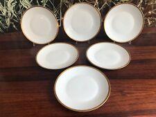 Rosenthal Forma 2000 Blanco / Grabado Borde Oro 6 Noble Plato de Tarta / Postre