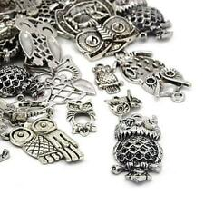 Owl Charm/Pendant Tibetan Antique Silver 5-40mm  30 Grams Accessory Jewellery
