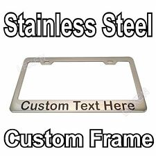 Custom Printed Chrome Stainless Steel License Plate Frame With YOUR TEXT f