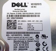 """Western Digital RE3 1TB Internal 7200RPM 3.5"""" (WD1002FBYS) HDD - Dell Caddy"""