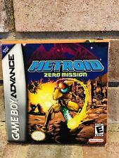 Metroid Zero Mission Nintendo Game Boy Advance GBA Game Complete IOB MINT