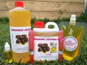 ORGANIC JOJOBA OIL, COLD-PRESSED, 100% PURE, 60ML 100ML, 200 ML (FREE POSTAGE)