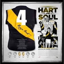 """HART AND SOUL"" HAND SIGNED FRAMED JERSEY MARTIN HART RICHMOND TIGERS AFL"