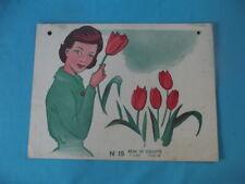 Ancienne Affiche scolaire Remi et Colette la reine méchante et maman tulipe