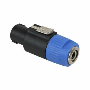 Pulse Locking Speaker Speakon To 6.35mm 1/4' Jack Adaptor Convertor Amplifier DJ