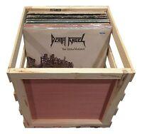 "14"" Wooden Vinyl Record Storage Crate - Album, LP, Record Storage and Display"