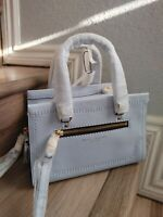 NWT Authentic Marc Jacobs Mini Cruiser Pebbled Leather Satchel Tote Light Blue