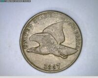 1857  Flying Eagle Cent 1c old penny  ( 18-300 M5 )