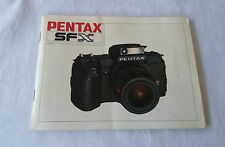 Pentax SFX 66 Page Owners Manual 1987