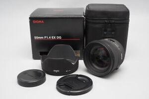 Sigma 50mm f/1.4 F1.4 EX DG HSM AF Lens, For Canon EF Mount, Boxed