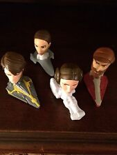 Star Wars Clone Wars Bobble head McDonald's Action Figures Lot Of 4