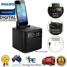 Digital Clock Radio FM iPod iPhone Android Charger Dock Docking Station Alarm