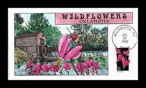 DR JIM STAMPS US COLLINS HAND COLORED FDC SHOOTING STAR WILDFLOWERS SCOTT 2654
