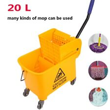 5 Gallon Rubber Bucket Wringer Mop Bucket Yellow Commercial Combo 20l