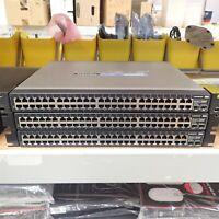 LOT OF 3 Linksys SRW248G4 48 Port 10/100 4 Gigabit Switch WebView