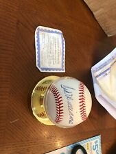 Ted Williams Autographed Bobby Brown Baseball High Quality  Certified HSC