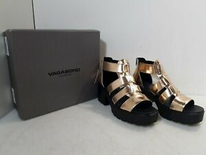 Vagabond Shoemakers Dioon Rose Gold Leather Platform Sandals Women's 40 (US 10)