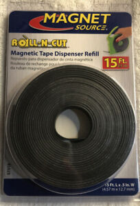 "Master Magnetics Roll-N-Cut Flexible Magnetic Tape Refill 1/16"" Thick x 1/2"" W"