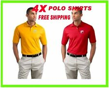4 Polo Shirts Custom Embroidered - FREE LOGO- Business-Golf - Team