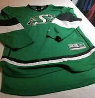 Saskatchewan Roughriders CFL Football ladies Jersey long sleeve small