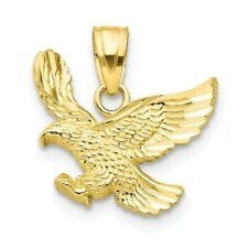 10k Yellow Gold Eagle Pendant. (0.5INx0.5IN)