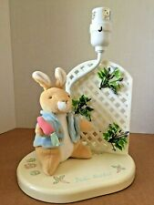 Vintage Eden Toys Beatrix Potter Peter Rabbit Wooden Nite Light Table Lamp