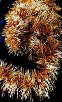 Vintage TINSEL GARLAND GOLD 27' Long Christmas Holiday - 2 Lots Available ea 27'