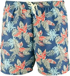 NEW TOMMY BAHAMA BLUE NAPLES FADED PALMS BOARD SHORTS SWIM TRUNKS SUIT 2XLT 2XL