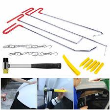 13pcs Spring Steel Rods Push Puller Air Wedge Car Paintless Dent Repair Tool Kit