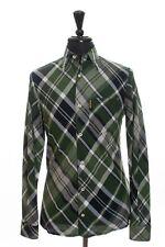 Armani Jeans Green Plaid Linen Blend Shirt Large 6243
