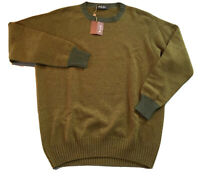 995$ Loro Piana Green Crewneck Cashmere sweater Size 58 or XXXL Made in Italy